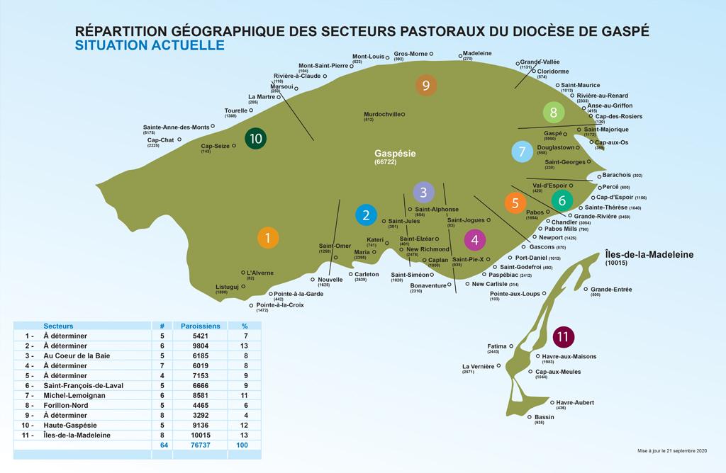 carte des 11 secteurs